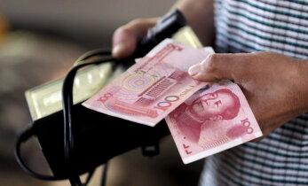 Hiina jüaanist sai tänu nõrgale eurole maailmavaluuta