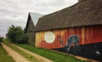FOTO | Grafitikunst on ka külatänavale jõudnud
