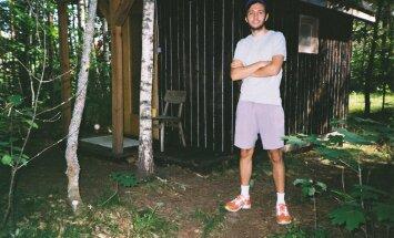 Дом в лесу Пылвамаа. Это и все другие фото сделаны на пленку