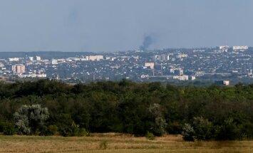 Ukraina jõud taganesid väejuhatuse käsul tugeva suurtükitule all Luganski lennuväljalt