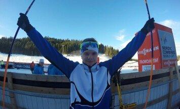 Noor kahevõistleja Andreas Ilves võitis FIS Youth Cupil teise ja kolmanda koha