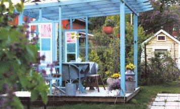 Mõtleme suvele: vanad aknad uues pergolas