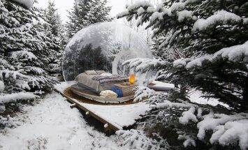"""В Исландии открылся отель """"Пять миллионов звезд"""" — со спальнями в прозрачных пузырях"""