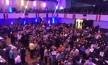Eesti lipp kongressil Saksamaal