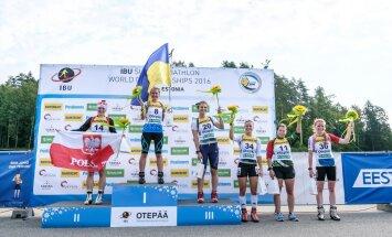 Naisjuunioride sprindidistantsil võitis kulla Anastasia Merkushyna