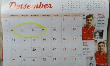 LUGEJA FOTO: Selveri kalendris on detsembrikuu kuupäevad loomingulises järjekorras