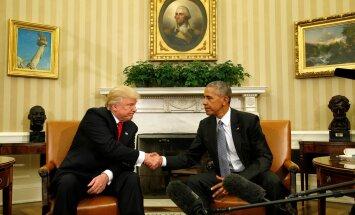Obama ja Trumpi esimene kohtumine