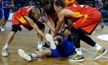 Saksamaa korvpallikoondis kontrollmängul Tallinnas