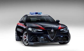 Itaalia karabinjeeride uutele Alfa Romeotele tahaks juba ilu pärast ette jääda