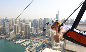 В Дубае открылся рекордно быстрый зиплайн