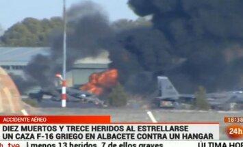 Hispaanias kukkus alla NATO hävituslennuk, hukkus vähemalt kümme inimest