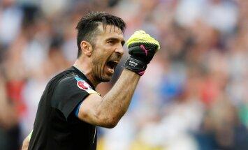 Itaallaste väravavahil Gianluigi Buffonil oli põhjust särada.
