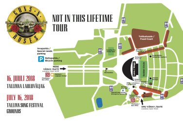 7e3d7b05ad0 TÄHTIS: kõik, mida Guns N' Rosesi kontserdi külastaja teadma peab:  liiklusest keelatud esemeteni!