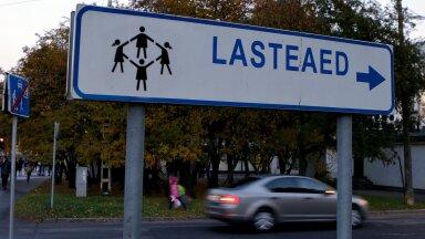 Lasteaed, laps, liiklus, õueala