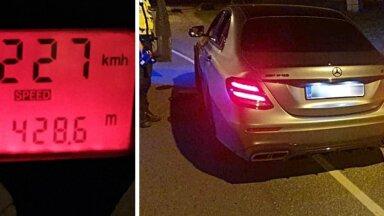 FOTO |  Huligaan sõitis Pirita teel 227 km/h. Karistuseks kuu aega kinnimajas