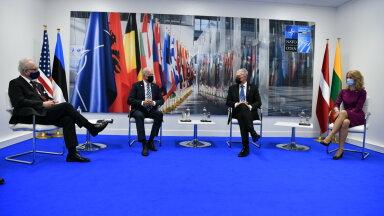 FOTO | Balti riigipeade kohtumisel Joe Bideniga lepiti kokku Ukraina ja Gruusia toetamises