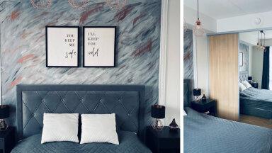 """FOTOVÕISTLUS """"Minu stiilne magamistuba""""   Väike magamistuba, mille pärliks on enda maalitud efektsein"""