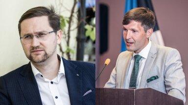 EKRE aseesimees Jaak Madison vasakul, EKRE esimees Martin Helme paremal.