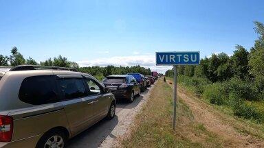VIDEO   Auto autos kinni! Saaremaa praamijärjekord kolme minutiga