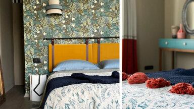"""FOTOVÕISTLUS """"Minu stiilne magamistuba""""   Julge kujundusega magamistuba, kus kohtuvad värvid ja mustrid"""