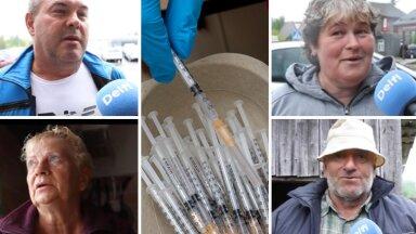 VIDEOREPORTAAŽ | Katkeid vaktsineerimisseisust Kagu-Eestis. COVIDit põdenud wõrolane: enne olin vaktsineerimise vastu, nüüd aga poolt!