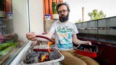MIDA VÄLTIDA: meteoroloog Jüri Kamenik väldib grillimisel palavaid ja tuuliseid päevi.
