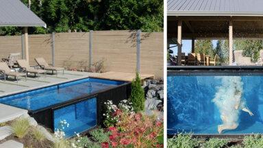 FOTOD JA VIDEO   Merekonteinerist saab aeda ägeda basseini!