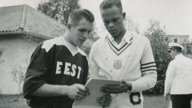 Heino Veskila 1936. aasta Berliini olümpial koos 400 m jooksus kuldmedali võitnud USA veerandmaileri Archie Willamsiga.
