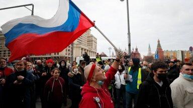Eile kogunes Moskvas meelt avaldama mitu tuhat Aleksei Navalnõi poolehoidjat, kuid jaanuari meeleavaldusega võrreldes oli neid märgatavalt vähem.