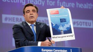 Eurovolinik Margaritis Schinas ELi uue tervisealasteks hädaolukordadeks valmisoleku ja neile reageerimise asutuse esitlusel