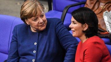KAKS MÕTTEKAASLAST: CDU esimees Angela Merkel pidavat südames just Annalena Baerbocki oma pärandi jätkajaks.
