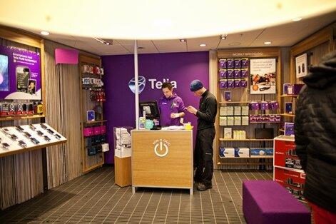Telia kauplus Rootsis.