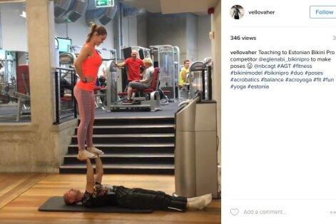 VIDEO: USA talendisaate täht Vello Vaher tõstis fitnessikaunitari Egle Eller-Nabi sirgetele kätele