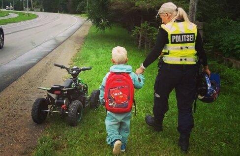 3-aastane põnn seikles ATV-ga üksi mitu kilomeetrit! Tänu tähelepanelikule kodanikule suudeti halvimad stsenaariumid ära hoida