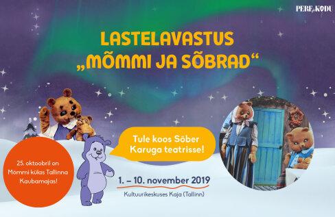 Tallinna Kauabamaja Lastemaailm kutsub Mõmmiga mängima ja joonistama