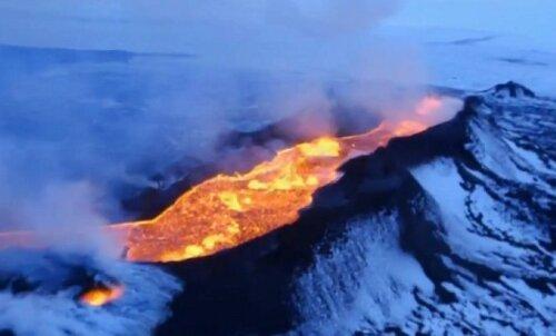 VIDEO: Bárðarbunga vulkaan Islandil on viis kuud hiljem kasvanud Manhattani suuruseks