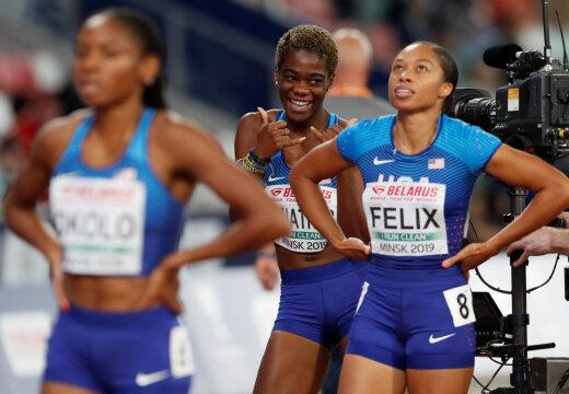 Kümme kuud tagasi sünnitanud Allyson Felix teeb Doha MMil ajalugu