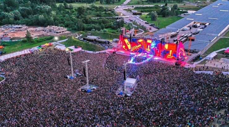 FOTOD | Nüüd saad aru, palju inimesi kohal oli! Korraldaja jagas erilisi kaadreid Metallica kontserdist