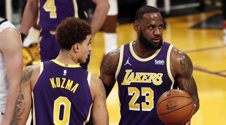 VIDEOD | LeBron James ja Kyle Kuzma said teesklemise eest ametliku hoiatuse