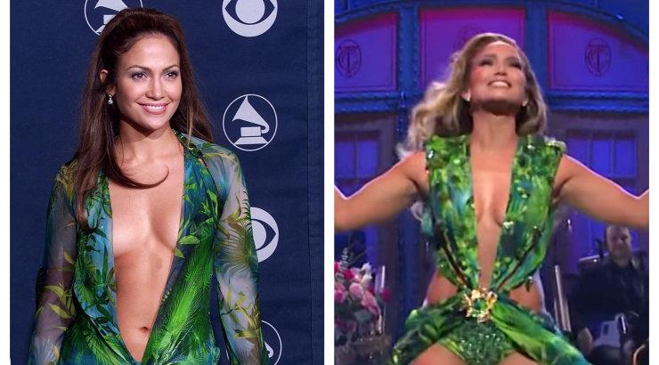 KLÕPS | Legendaarse kleidi tagasitulek! Jennifer Lopez näitas, et aastaid tagasi kantud paljastav riietus näeb jätkuvalt võrratu välja