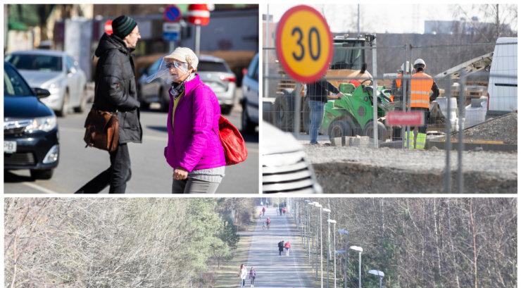 FOTOD | Eriolukord Tallinnas: vaikelule kaubanduskeskustes on kontrastiks vilgas tegevus ehitusplatsidel. Jalutajad on manitsustest õppust võtnud