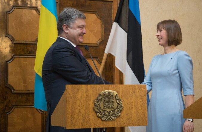 Петр Порошенко 23 января в Кадриорге на встрече с Керсти Кальюлайд