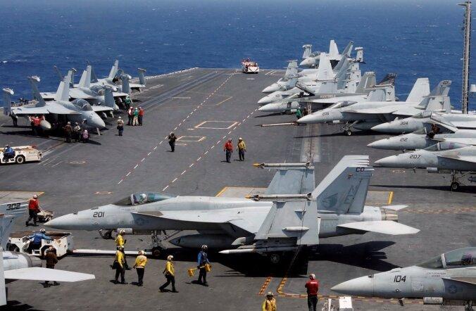 Põhja-Korea ähvardas õppustele saabuvat USA lennukikandjat halastamatute ülitäpsete löökidega