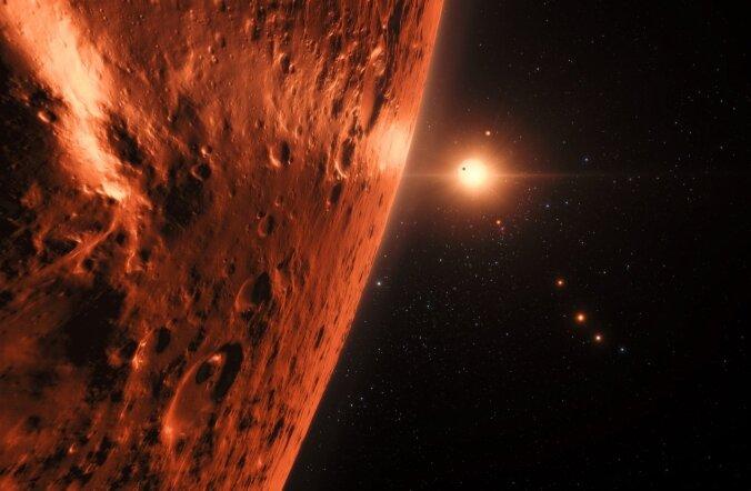 Selline võiks olla üks TRAPPIST-1 planeet.
