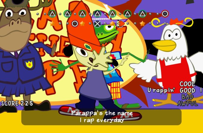 FORTE MÄNGUARVUSTUS: PaRappa the Rapper Remastered (PS4)