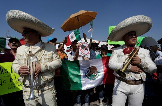 Trumpi vastane meeleavaldus Mehhikos.