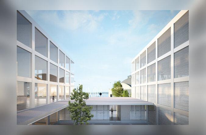 Arhitektuurikonkursi võidutöö IT- agentuuri peahoonele, autorid DAGOpen OÜ ja LÜNK Arhitektid OÜ
