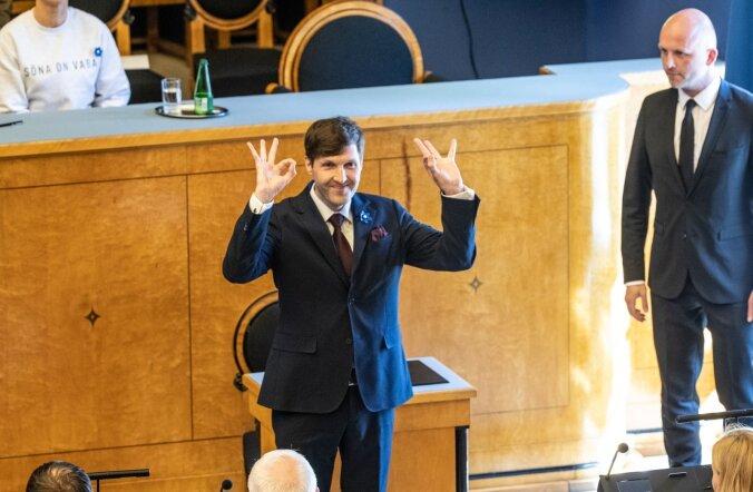Martin Helme vande andmisel riigikogus