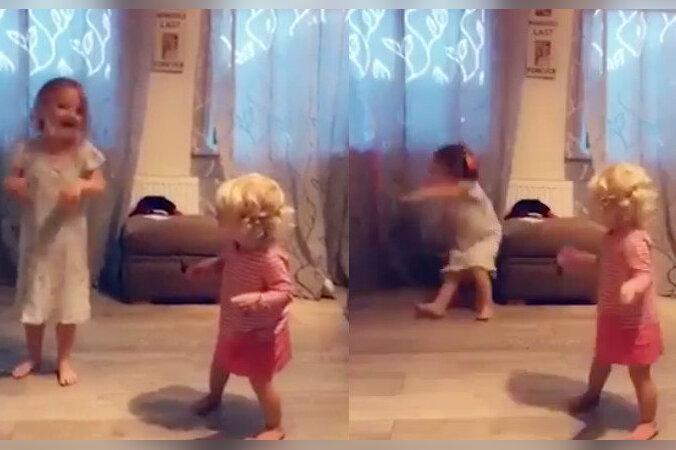 fded3013a34 VIDEO | Kas see väike tüdruk kaotas tasakaalu või lükkas tõesti