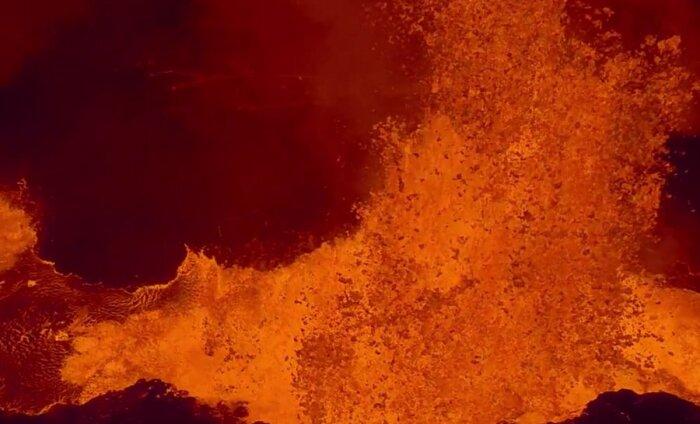 Droonivideo: lenda Islandil purskava Bardarbunga vulkaani kohal kuni kaamera sulamiseni
